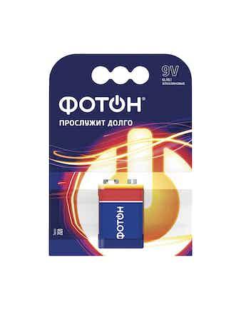 Элемент питания ФОТОН 9V 6LR61(бл.1 шт)