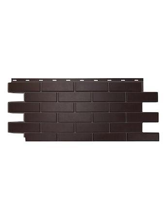Фасадная панель Nordside Гладкий кирпич, темно-коричневая