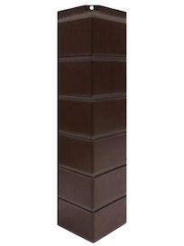 Сборный угол Nordside Гладкий кирпич, темно-коричневый