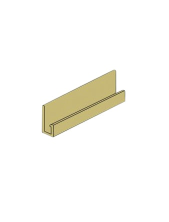 J-профиль для фасадной панели Nordside Гладкий кирпич, желтый