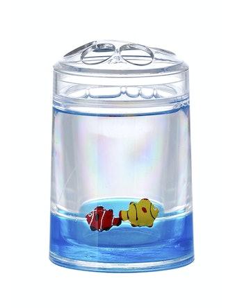 Стаканчик для зубных щеток Duschy 860-31, синие рыбки
