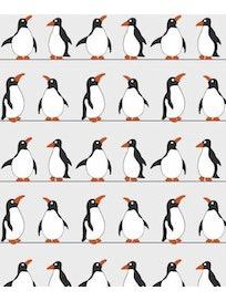 Занавеска для ванной комнаты Пингвины 180х180 PEVA