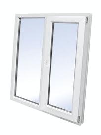 Окно двустворчатое ПВХ WHS, глухое левое/поворотное правое, 1200 х 1200 мм