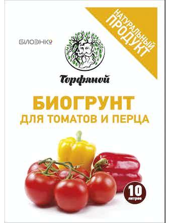 Биогрунт для томатов и перца, 10 л
