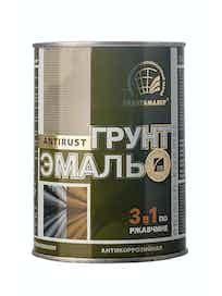 Грунт-эмаль по ржавчине РадугаМалер 3 в 1, серая, 0,9 кг