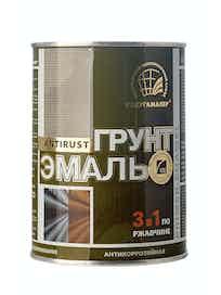 Грунт-эмаль по ржавчине РадугаМалер 3 в 1, красно-коричневая, 0,9 кг