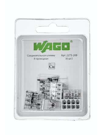Клемма Wago (2273-208) Cu-Cu 8 проводов