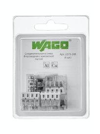 Клемма Wago (2273-248) Cu-Al (с пастой)