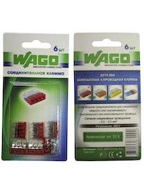 Клемма Wago (2273-204) Cu-Cu 4 провода