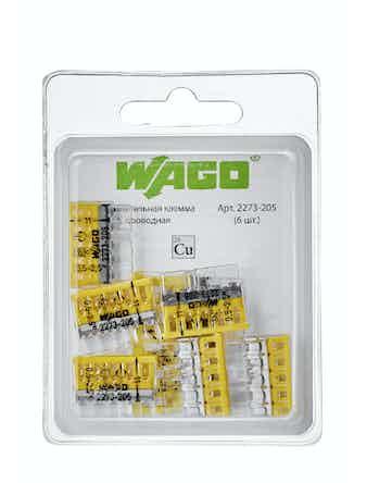 Клемма Wago (2273-205) Cu-Cu 5 проводов