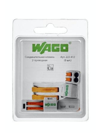 Клемма Wago (222-412) Cu-Al 2 провода