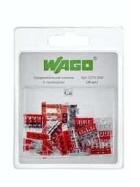 Клемма WAGO на 4 провода (2273-204) 20 шт