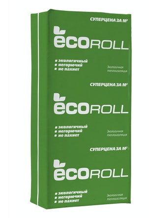 Теплоизоляция EcoRoll плита TS040, 50 мм
