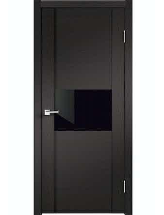 Дверное полотно ДО Modern 1 Дуб черный, 600 х 2000 мм