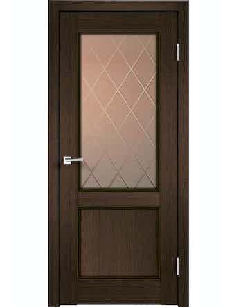 Дверное полотно ДО Classico 2V Мокка, 800 х 2000
