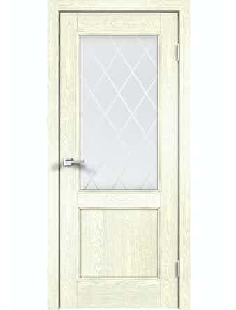 Дверное полотно ДО Classico 2V Слоновая Кость, 700 х 2000