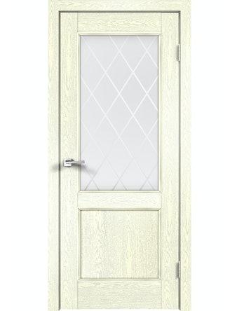 Дверное полотно ДО Classico 2V Слоновая Кость, 800 х 2000