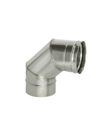 Отвод угол 90 гр без/изоляции на трубу, диаметр 115 мм