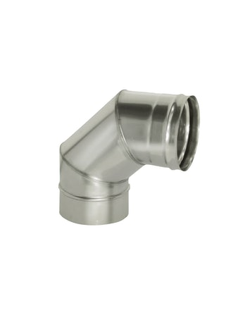 Отвод угол 90 гр без/изоляции на трубу, диаметр 120 мм