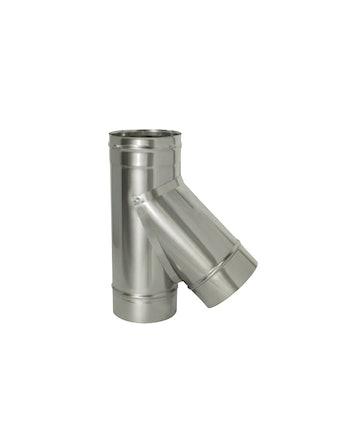 Тройник угол 45 гр без/изоляции на трубу, диаметр 120 мм
