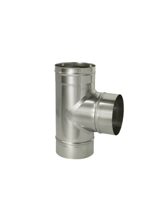 Тройник угол 90 гр без/изоляции на трубу, диаметр 120 мм