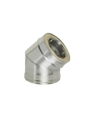 Отвод угол 45 гр с изол., на трубу, диаметр 115/200 мм