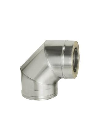 Отвод угол 90 гр с изол., на трубу, диаметр 120/200 мм