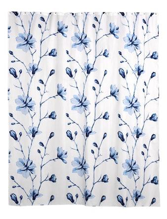 Штора для ванной Wess Liseron, синяя, 180 х 200 см