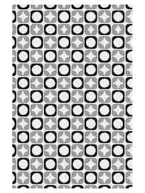 Полотенце Звездочки, серое, 42 х 72 см