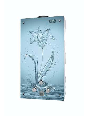 Водонагреватель газовый проточный Оазис Glass 20 SG