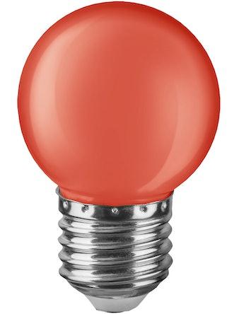 Лампа LED Navigator шар, 1 Вт х Е27, красная