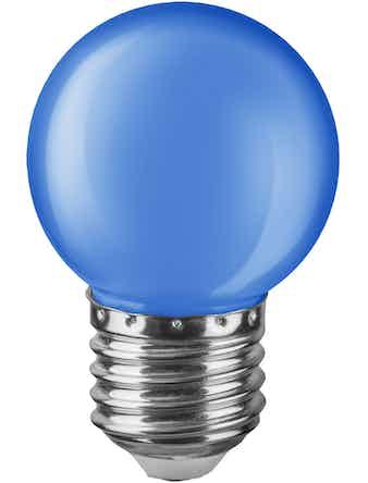 Лампа LED Navigator шар, 1 Вт х Е27, синяя