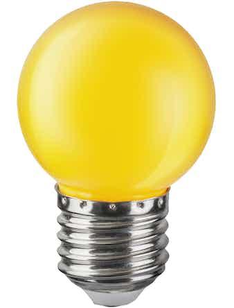 Лампа LED Navigator шар, 1 Вт х Е27, желтая