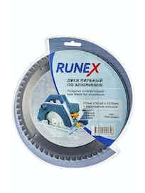 Диск пильный по алюминию Runex, 210 мм х 60 зуб. х 32/30 мм, отрицательный угол