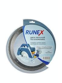 Диск по алюминию Runex, 250 мм х 100 зуб. х 32/30 мм, отрицательный угол