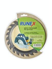 Диск пильный по дереву Runex, 180 мм х 24 зуб. х 20/16 мм