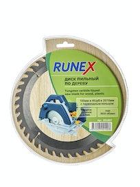 Диск пильный по дереву Runex, 180 мм х 40 зуб. х 20/16 мм