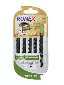 Пилки по дереву Runex T111C 555103, 100 x 75 мм, 5 шт.