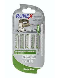 Пилки для прямого распила Runex HSS T118A, 75 x 50 мм, 5 шт.