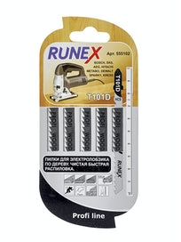 Пилки по дереву Runex T101D 555102, 100 x 75 мм, 5 шт.