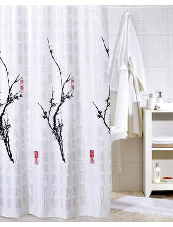 Штора для ванной Cherry Tree SCID100P, 200 x 200 см
