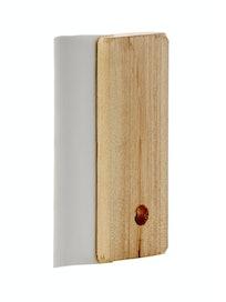 Шпатель резиновый с деревянной ручкой, белый, 100 мм