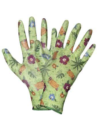 Перчатки садовые зеленые, размер 8