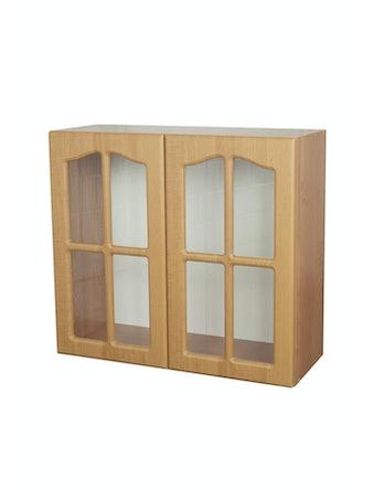 Шкаф навесной Ольха, 80 х 72 х 30 см, витрина