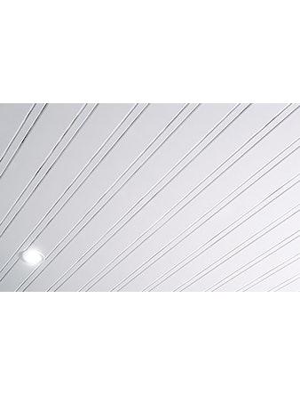 Реечный потолок Mr.Tektum Классик 84R, белый матовый, 2 х 2 м