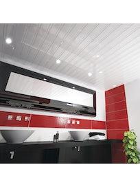 Реечный потолок Mr.Tektum Классик 84R, белый глянцевый, 2 х 2 м