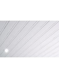 Реечный потолок Mr.Tektum Классик 84R, 2,6 х 1 м, белый матовый