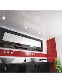 Реечный потолок Mr.Tektum Классик 84R, 3 х 1 м, белый глянцевый