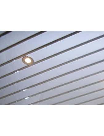 Реечный потолок Mr.Tektum, 1,72 х 1,52 м, белый глянцевый/хром