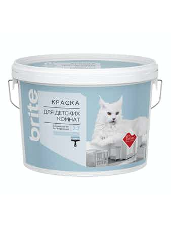 Краска для детских комнат с защитой от загрязнений Brite Teflon 2,7 л база А